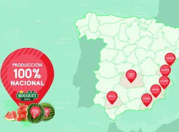 Las sandías Bouquet, de cultivo cien por cien nacional