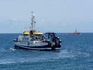 El buque del Instituto Español de Oceanografía Ángeles Alvariño