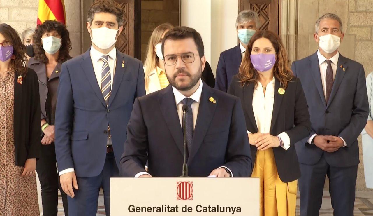 """Pere Aragonès insiste en la amnistía y un referéndum en Cataluña tras los indultos: """"Es hora de poner fin a la represión"""""""