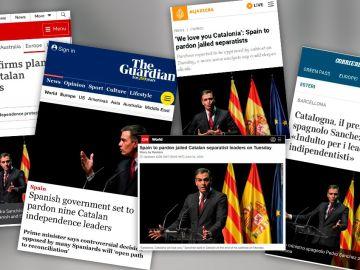 Así se han hecho eco los medios internacionales de los indultos a los presos del procés del Gobierno