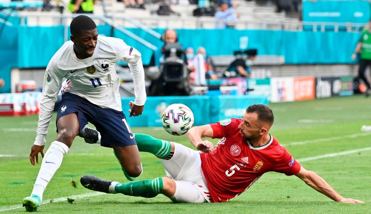 Dembelé, durante un partido de la Eurocopa con Francia