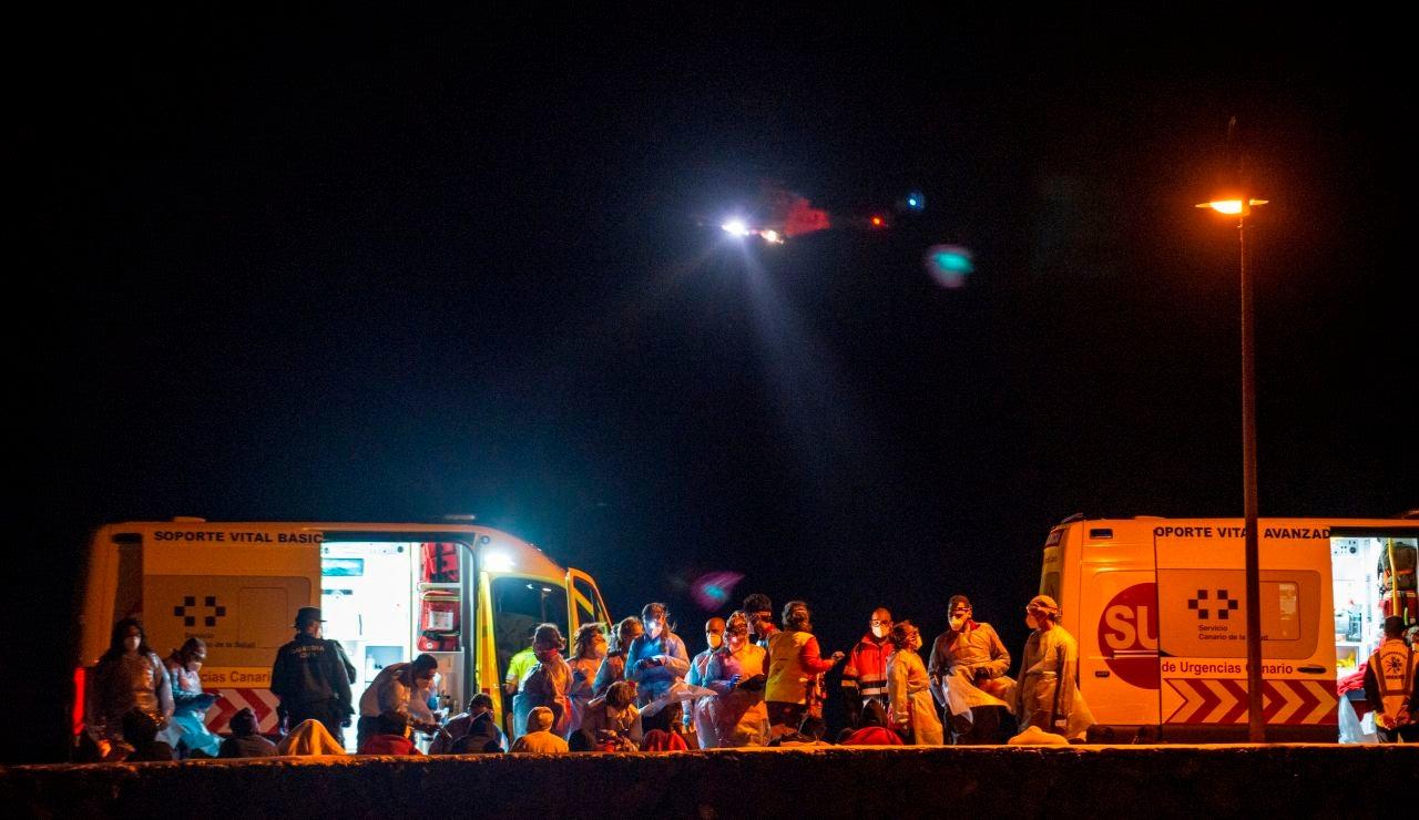 Embarcación con 41 personas a bordo en Lanzarote