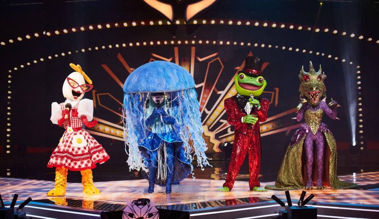 Esta noche, cuatro máscaras juntas dan una 'Fiesta' sobre el escenario: así comienza 'Mask Singer'