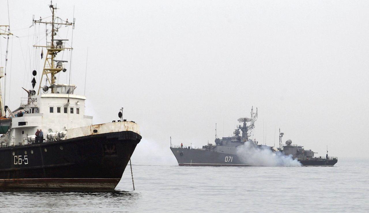 Un buque de guerra ruso en el Mar Negro.