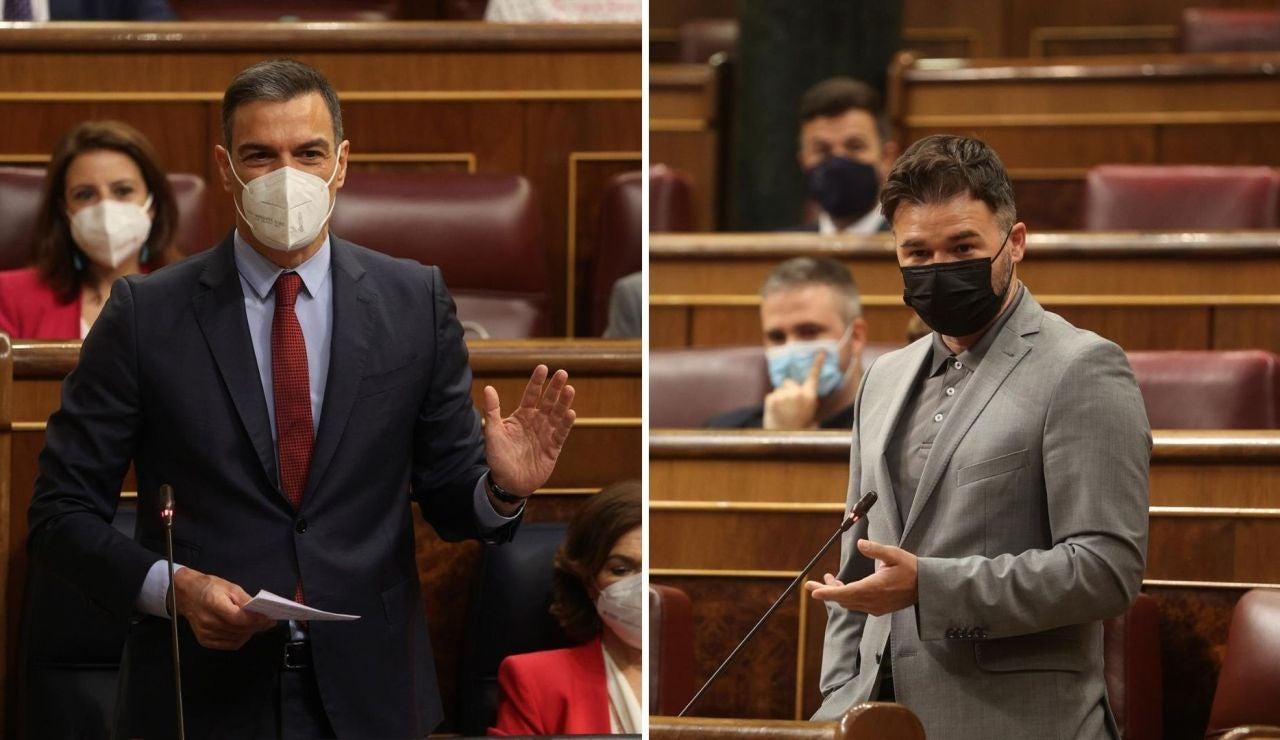 Rifirrafe entre Sánchez y Rufián