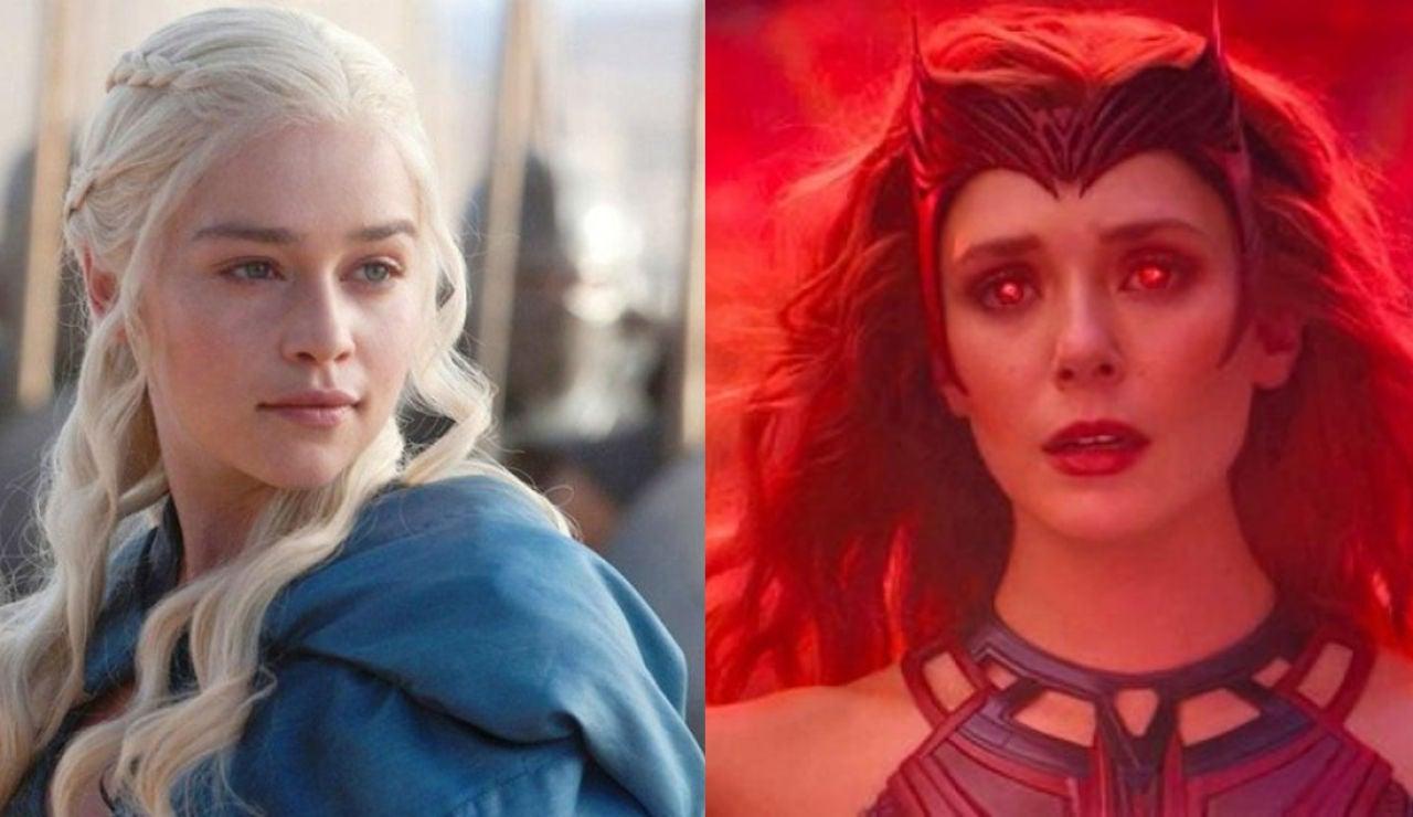 Elizabeth Olsen ('WandaVision') y Emilia Clarke como Daenerys en 'Juego de Tronos'