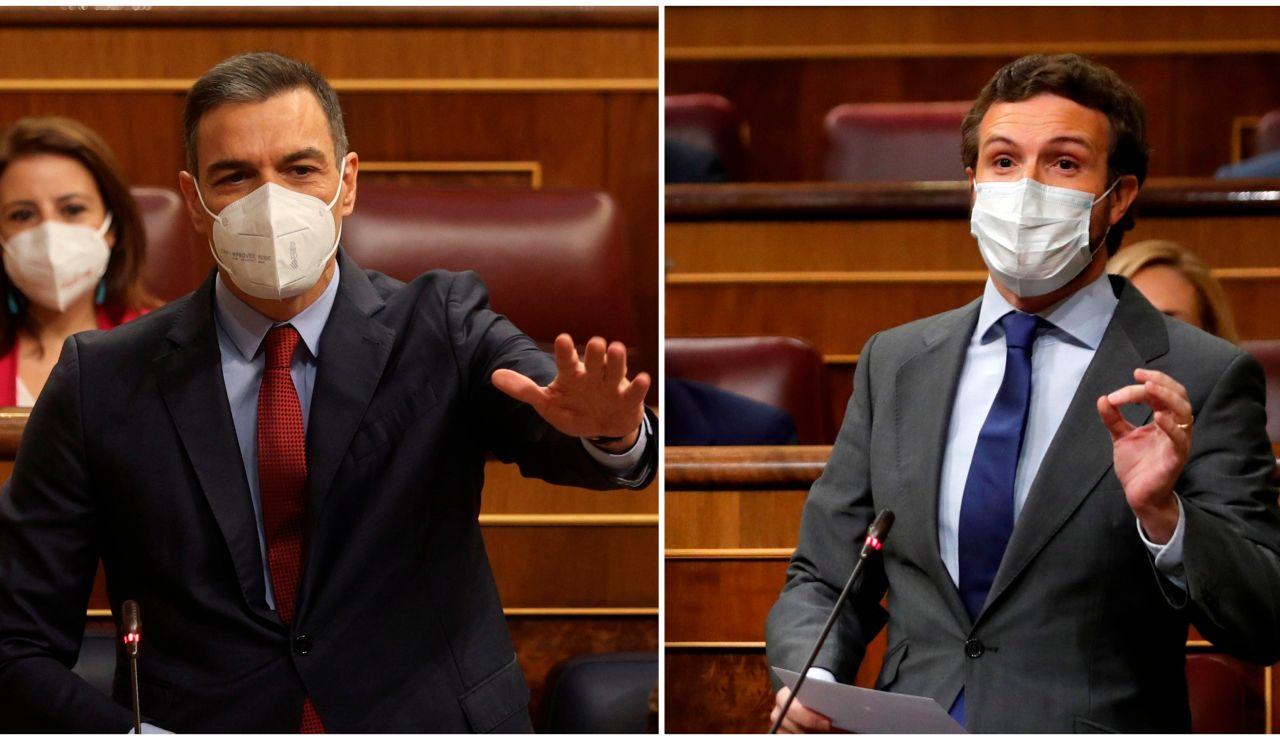 Sánchez y Casado en el Congreso