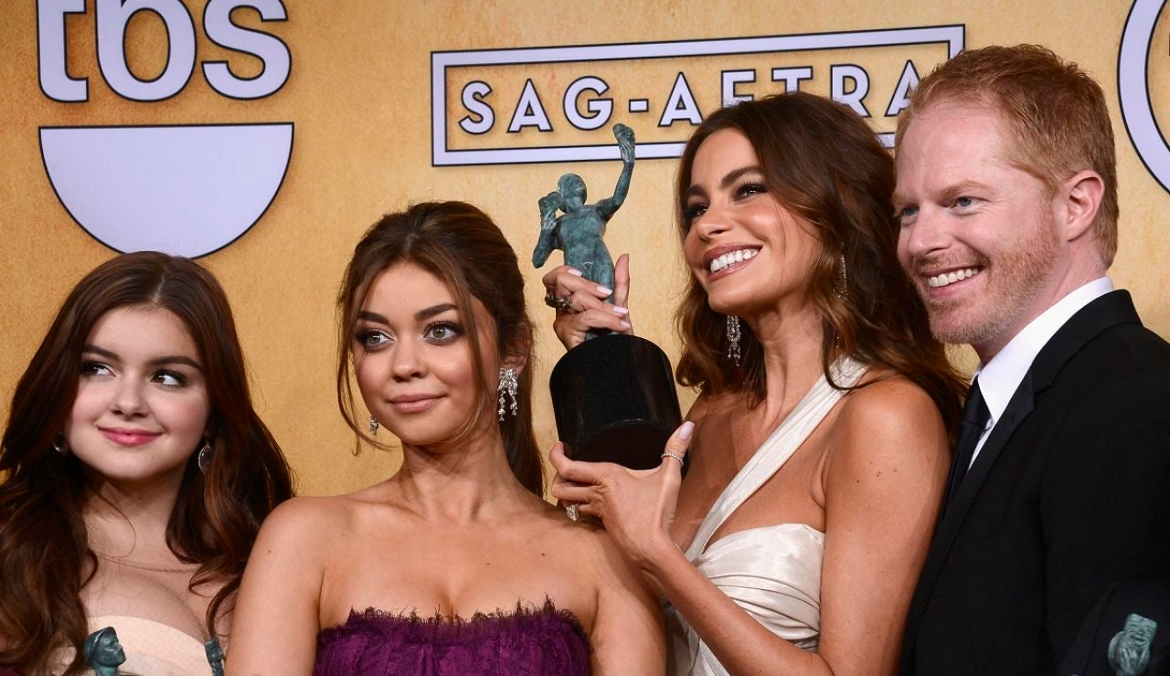 Sarah Hyland, Sofia Vergara, Jesse Tyler y Ariel Winter de 'Modern Family'