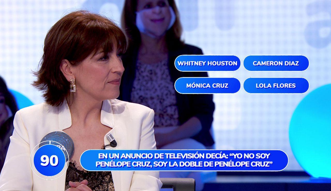 """Pepa Aniorte se codea con """"mujerones"""" en su estreno en 'Pasapalabra'"""