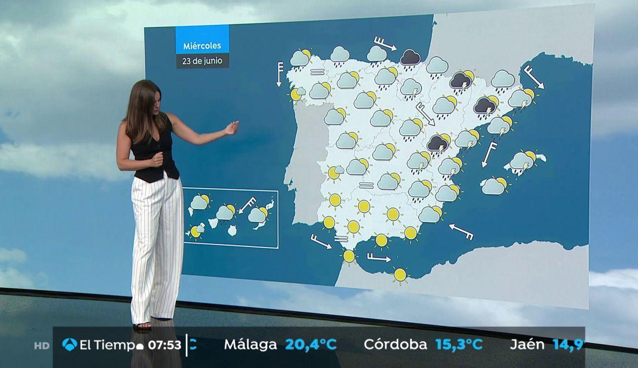 La previsión del tiempo hoy: Lluvias fuertes en el Cantábrico, Comunidad Valenciana y este de Cataluña