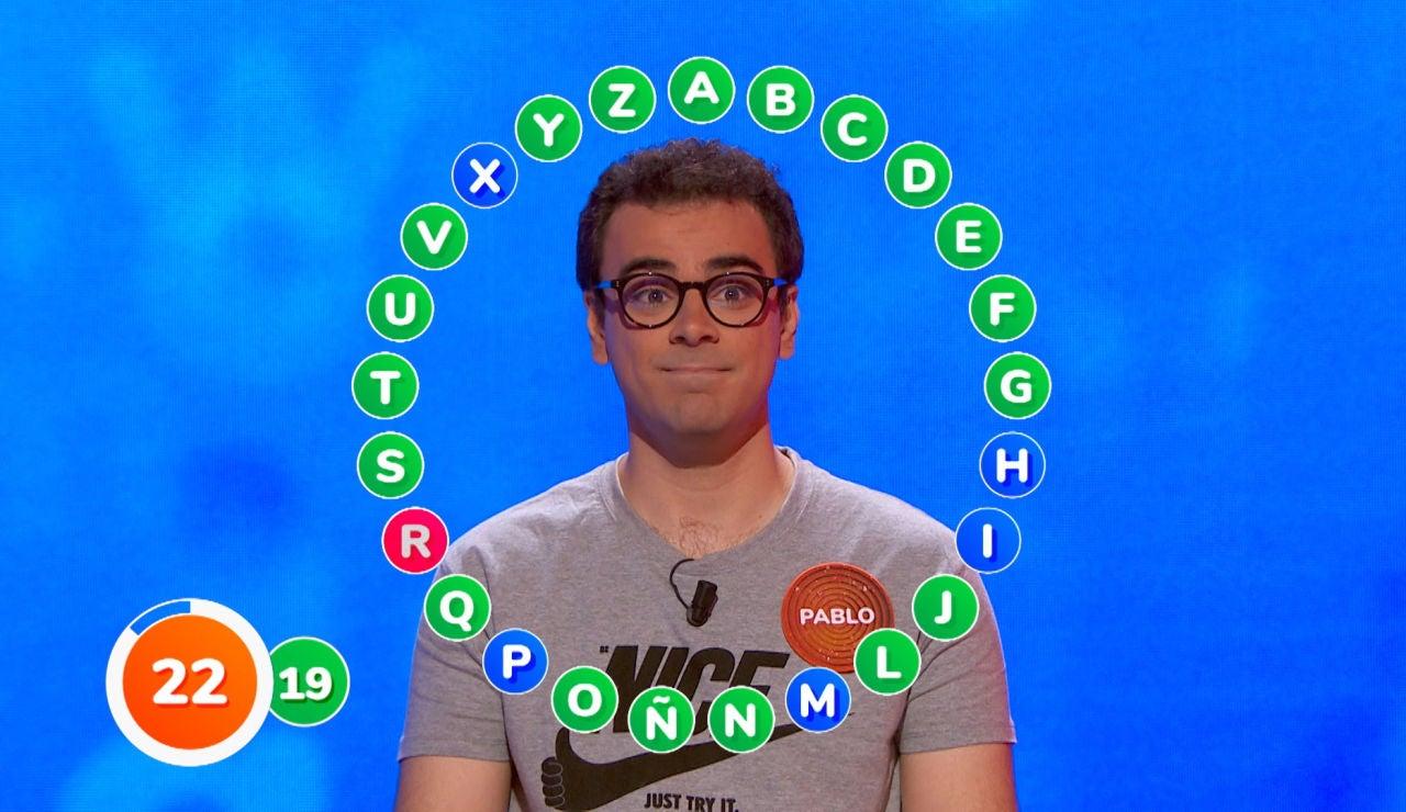 Un fallo obliga a Pablo a cambiar su estrategia para ganar en 'El Rosco', ¿conseguirá más aciertos que  Javier?