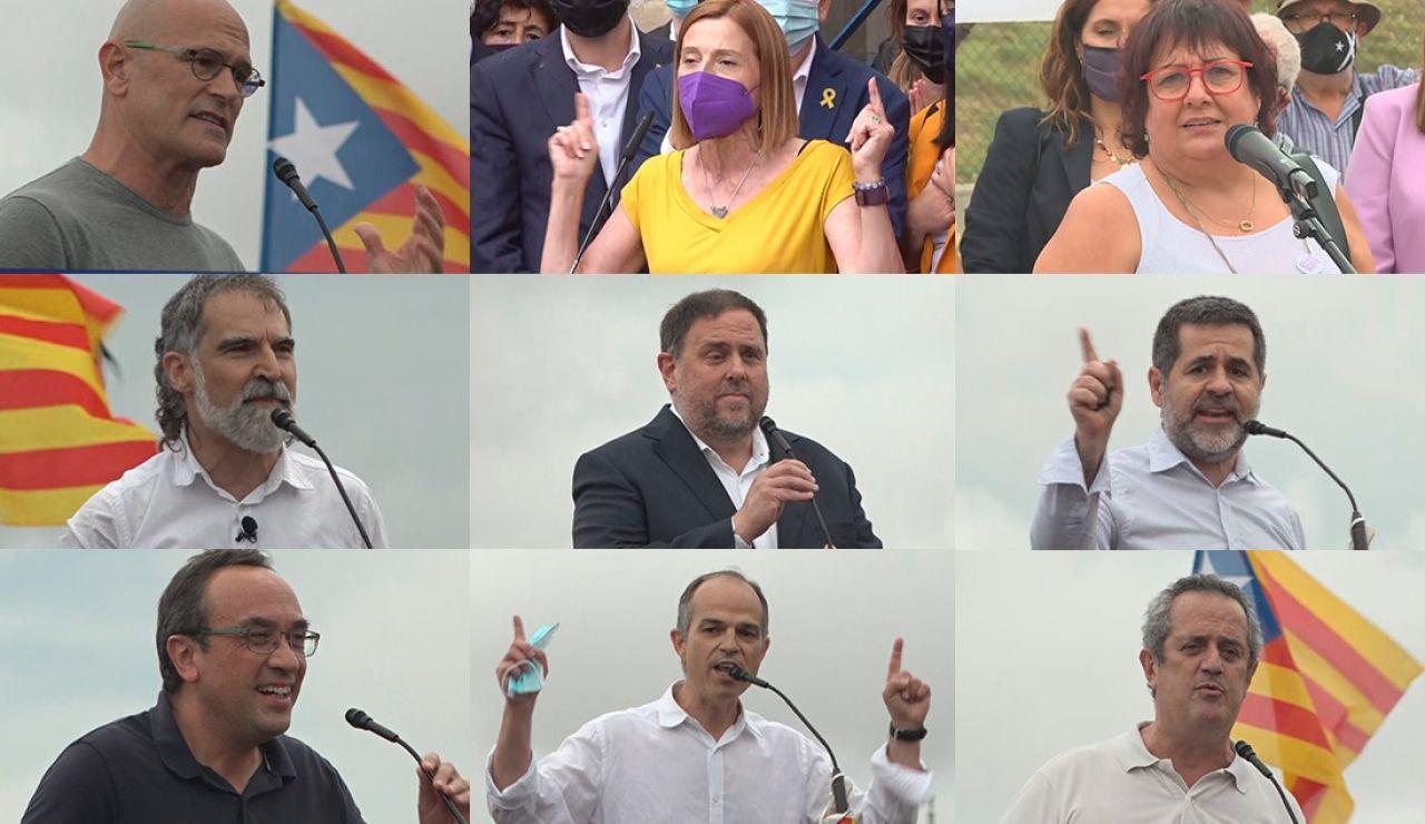 Los 9 independentistas indultados