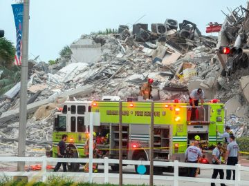 Edificio derrumbado en Miami