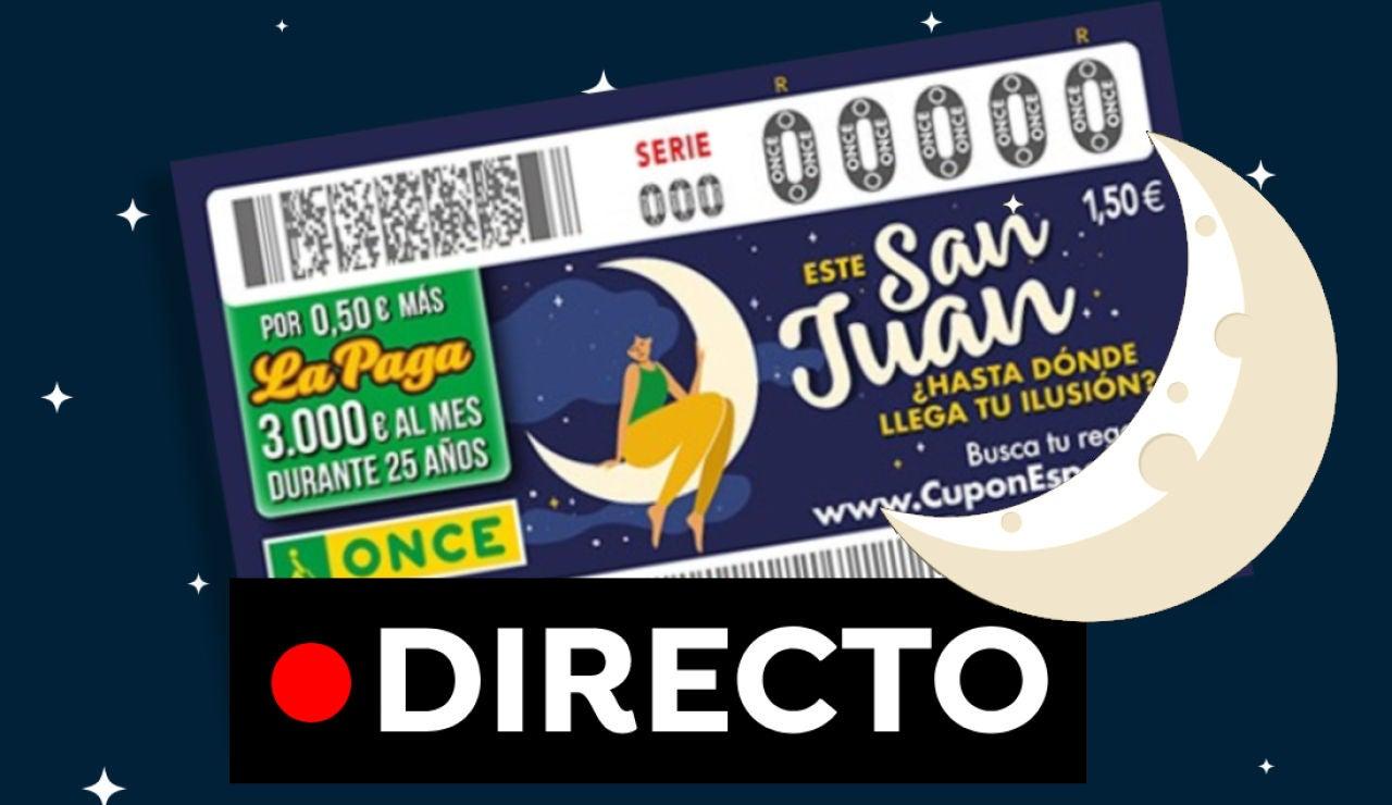 Sorteo ONCE: Comprobar número del Cupón Diario especial de San Juan, en directo
