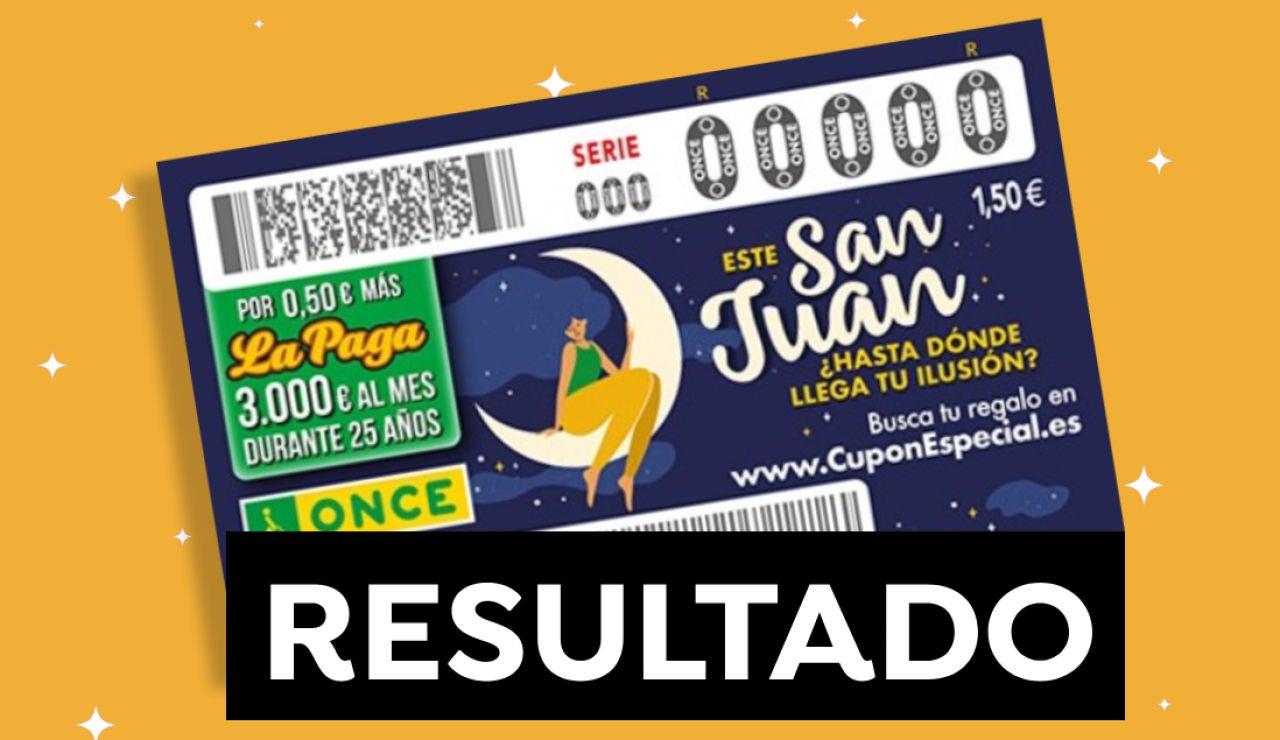 Comprobar ONCE: Resultado del sorteo del Cupón Diario Especial de San Juan hoy 24 de junio