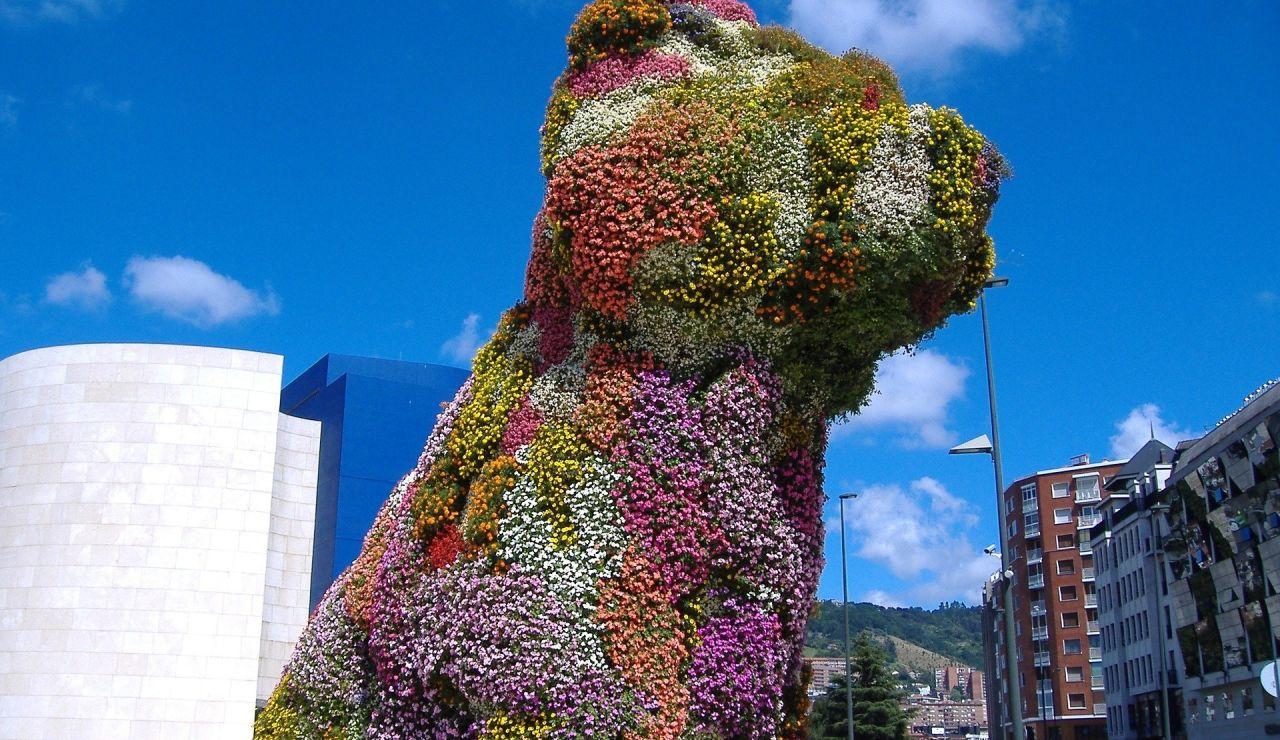 'Puppy', la mítica escultura del Museo Guggenheim de Bilbao, necesita reparación.