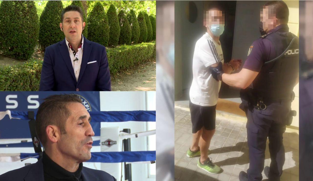 Detención del exboxeador Poli Díaz