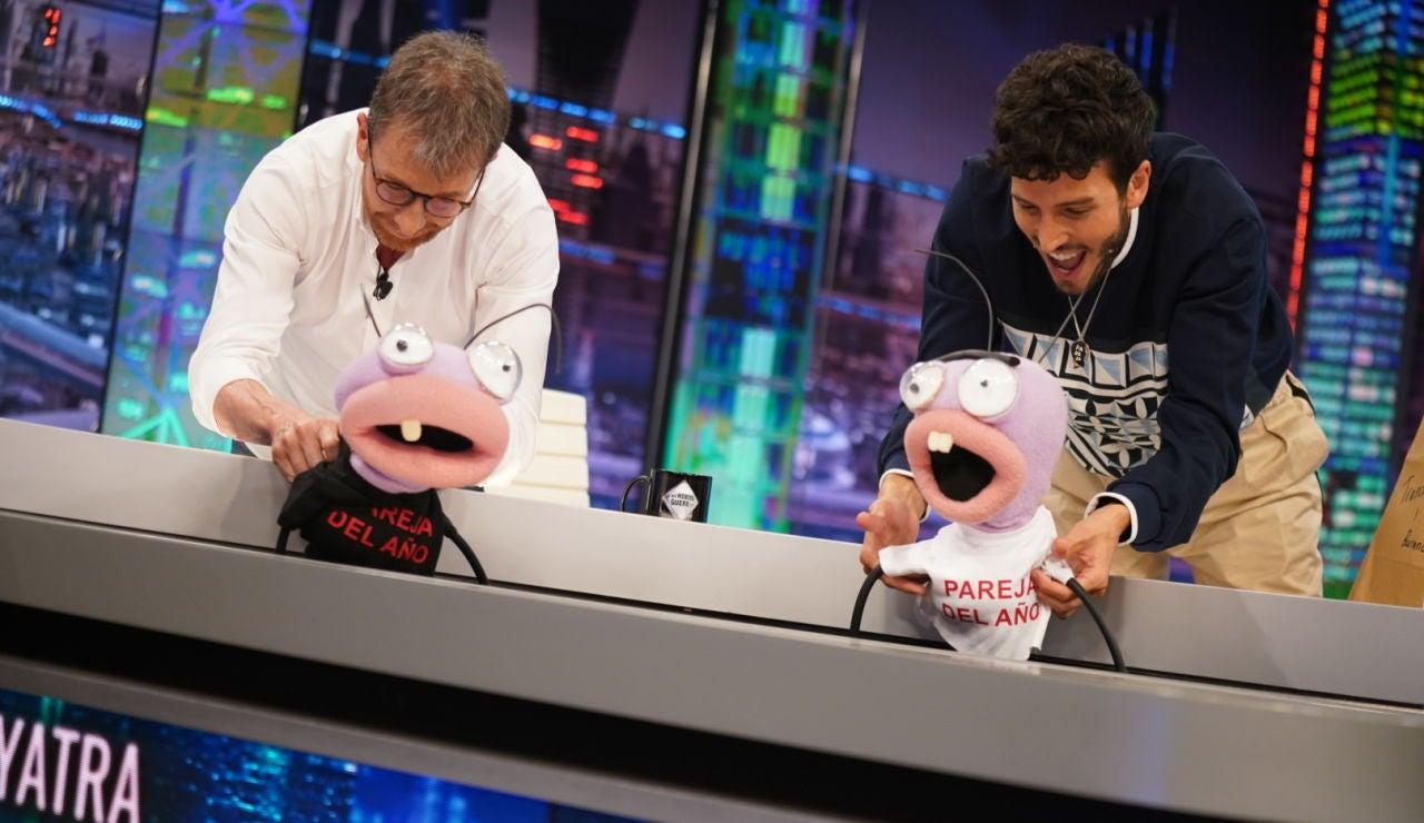 ¡Pablo Motos y Sebastián Yatra se comen a Trancas y Barrancas en directo en 'El Hormiguero 3.0'!