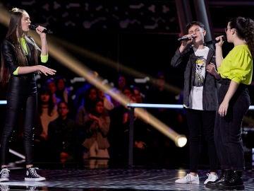 María, Alberto y Rosario cantan 'Saturno' en las Batallas de 'La Voz Kids'