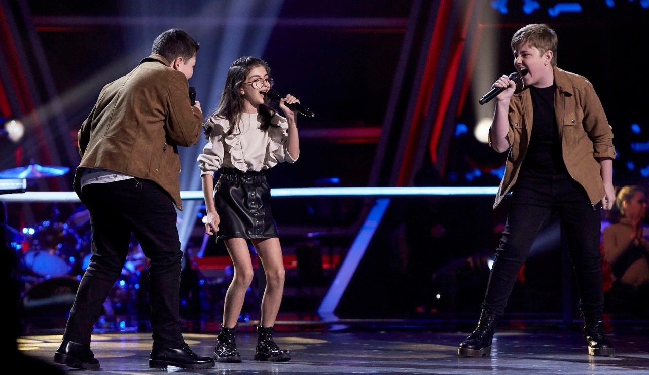 Marina, Ferrán y Xoel cantan 'Like I'm gonna lose you' en las Batallas de 'La Voz Kids'