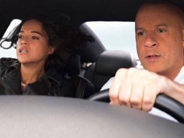 Michelle Rodriguez y Vin Diesel en 'Fast and Furious 9'