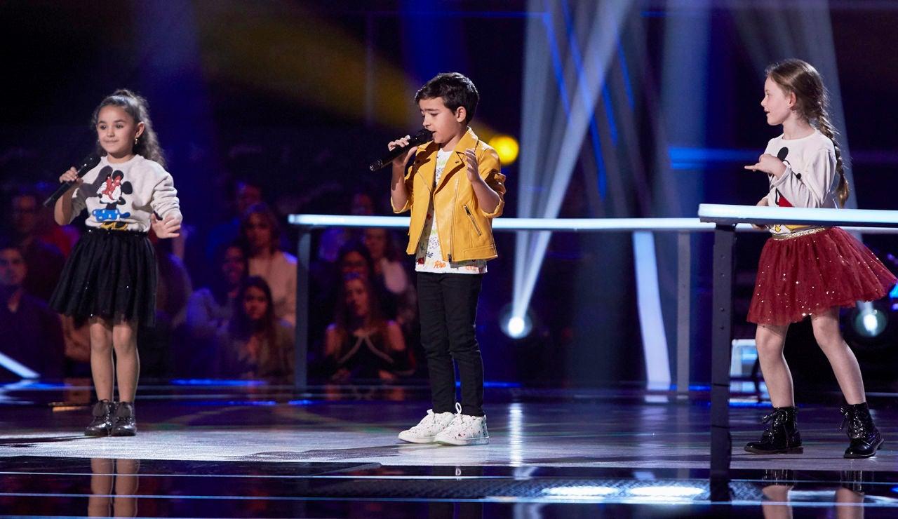 Samira, Sofía y Carlos cantan 'Hoy' en las Batallas de 'La Voz Kids'