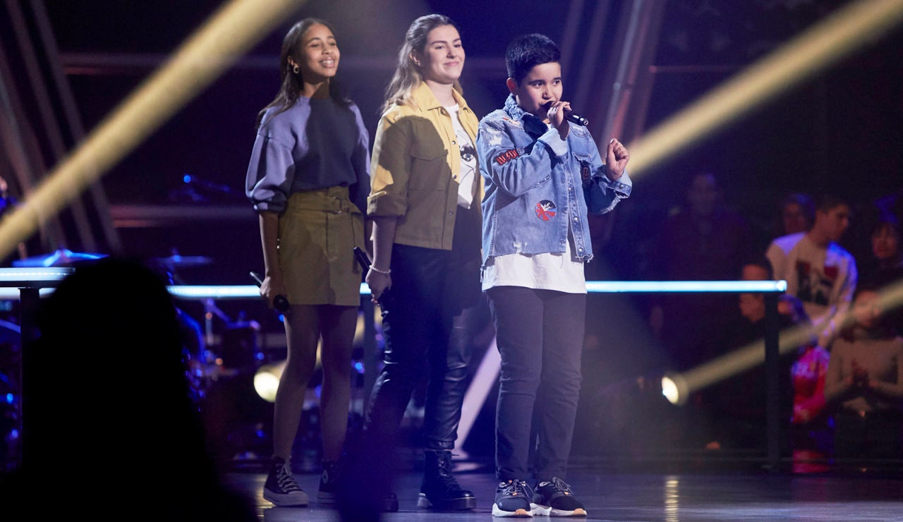 Levi, Lisbel y Haizea cantan 'Diamonds' en las Batallas de 'La Voz Kids'