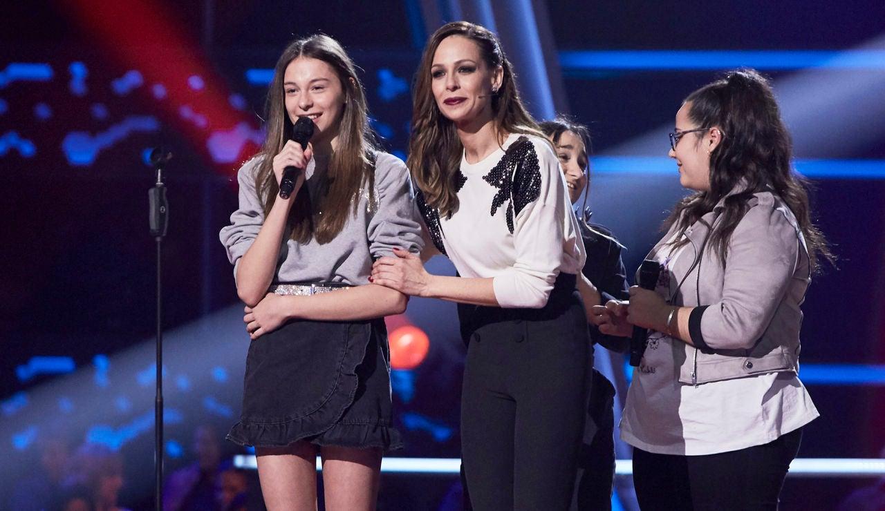 David Bisbal elige a Carmen Puente en las Batallas de 'La Voz Kids'