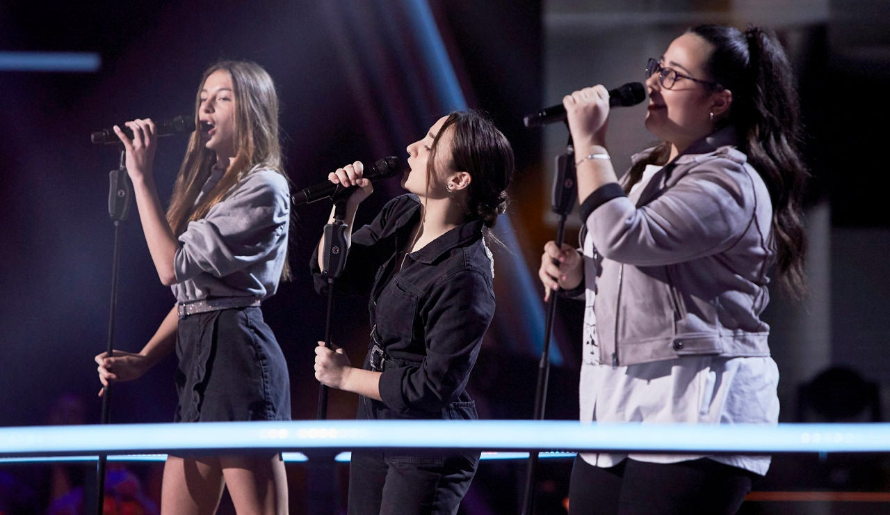 Carmen, Noa y Candela cantan 'New rules' en las Batallas de 'La Voz Kids'