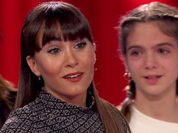 Aitana responde a la broma de sus compañeros tras su sorpresa con una talent en 'La Voz Kids'