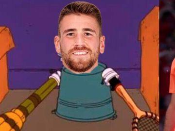 Unai Simón, protagonista de los memes del Croacia - España tras su error en el primer gol croata