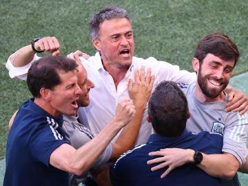 """Luis Enrique: """"Unai Simón ha dado una lección para cualquier niño que quiera ser futbolista"""""""