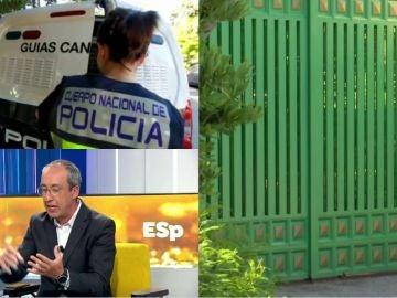 Registro en casa de José Luis Moreno.