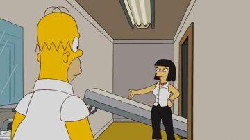 Homer Simpson buscando apartamento