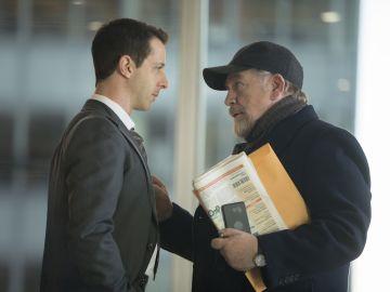 Jeremy Strong y Brian Cox en 'Succession'