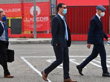 Los Mossos d'Esquadra, a su llegada al juicio en la Audiencia Nacional