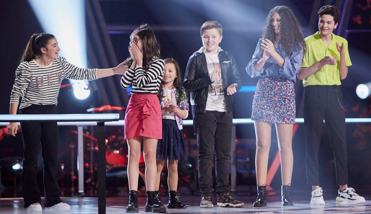 Nora, Carla, Lola y Javier son los cuatro semifinalistas del equipo de Vanesa Martín en 'La Voz Kids'