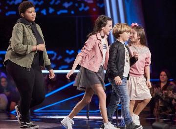 Inés, Marta, Jesús y Nazaret son los cuatro semifinalistas del equipo de Rosario en 'La Voz Kids'