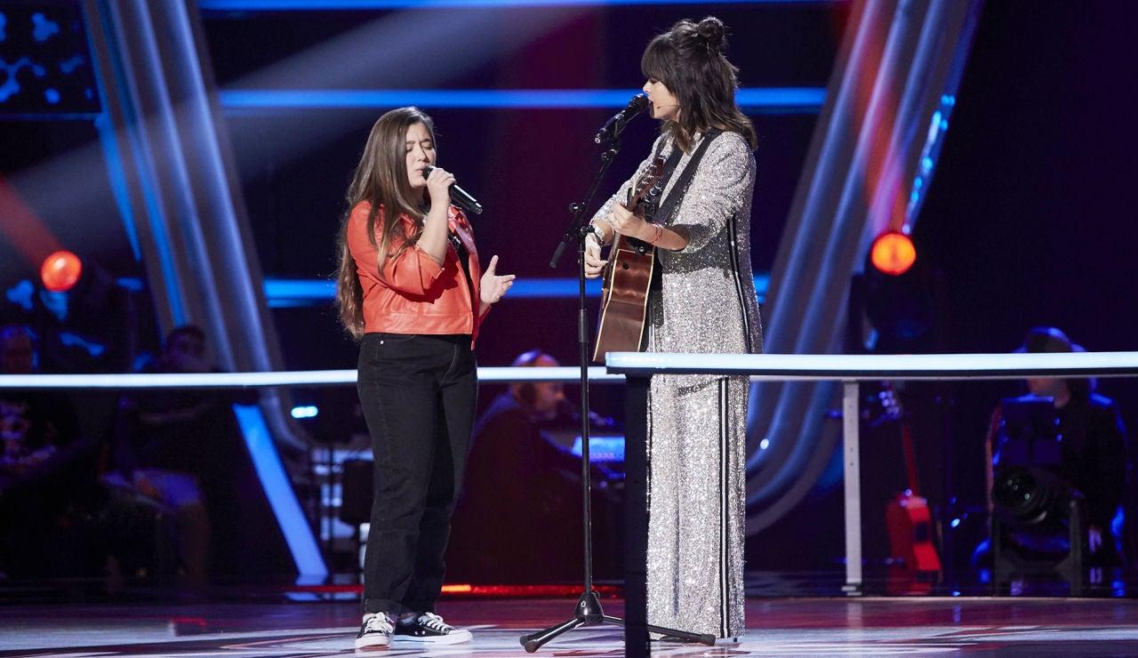 Vanesa Martín y Rocío Avilés interpretan una versión muy emotiva de 'No te pude retener' en 'La Voz Kids'