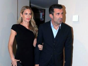 Luis Figo y su mujer Helen Svedin