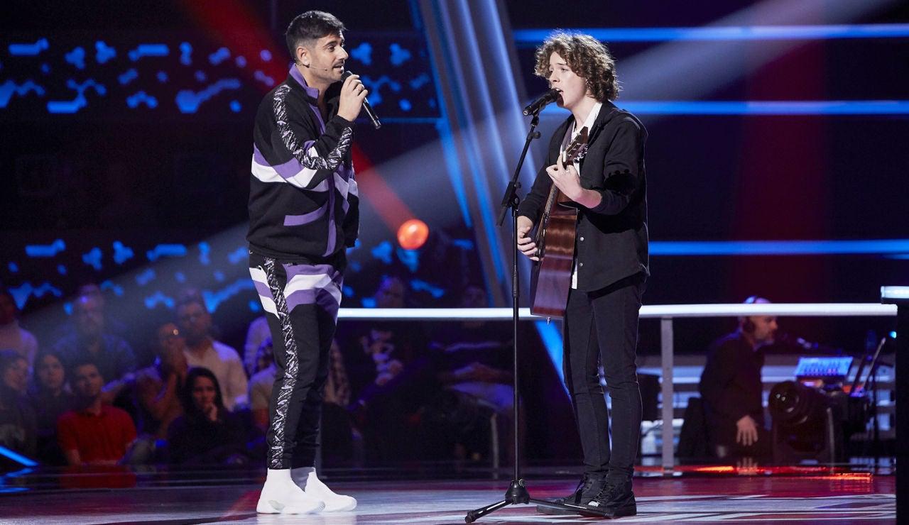 Melendi canta 'Sin remitente' con David Cabot y este explica la bonita historia de la canción en 'La Voz Kids'