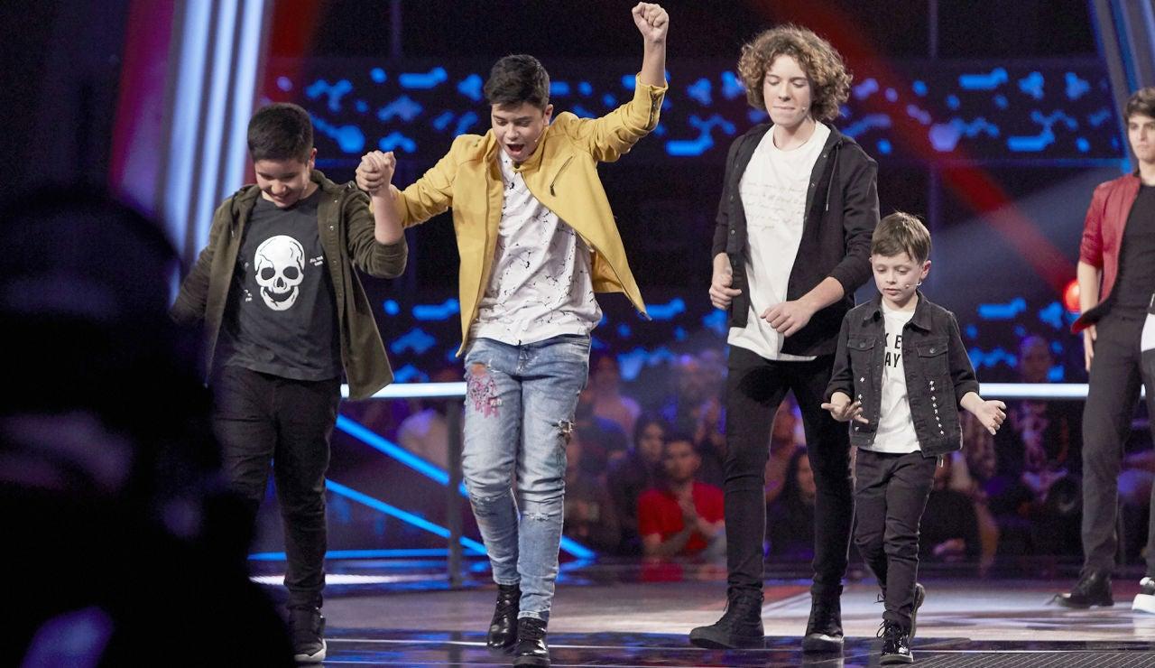Levi, Dayron, Jesús y David son los cuatro semifinalistas del equipo de Melendi en 'La Voz Kids'