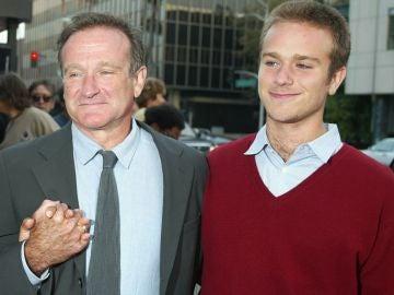 Robin Williams y su hijo Zak