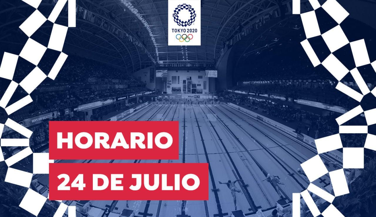 Horario y dónde ver las competiciones de hoy 24 de julio de los Juegos Olímpicos desde España