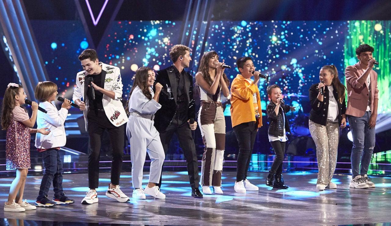 David Bisbal, Aitana y los finalistas de 'La Voz Kids', un comienzo único e inolvidable de la Final cantando 'Si tú la quieres'