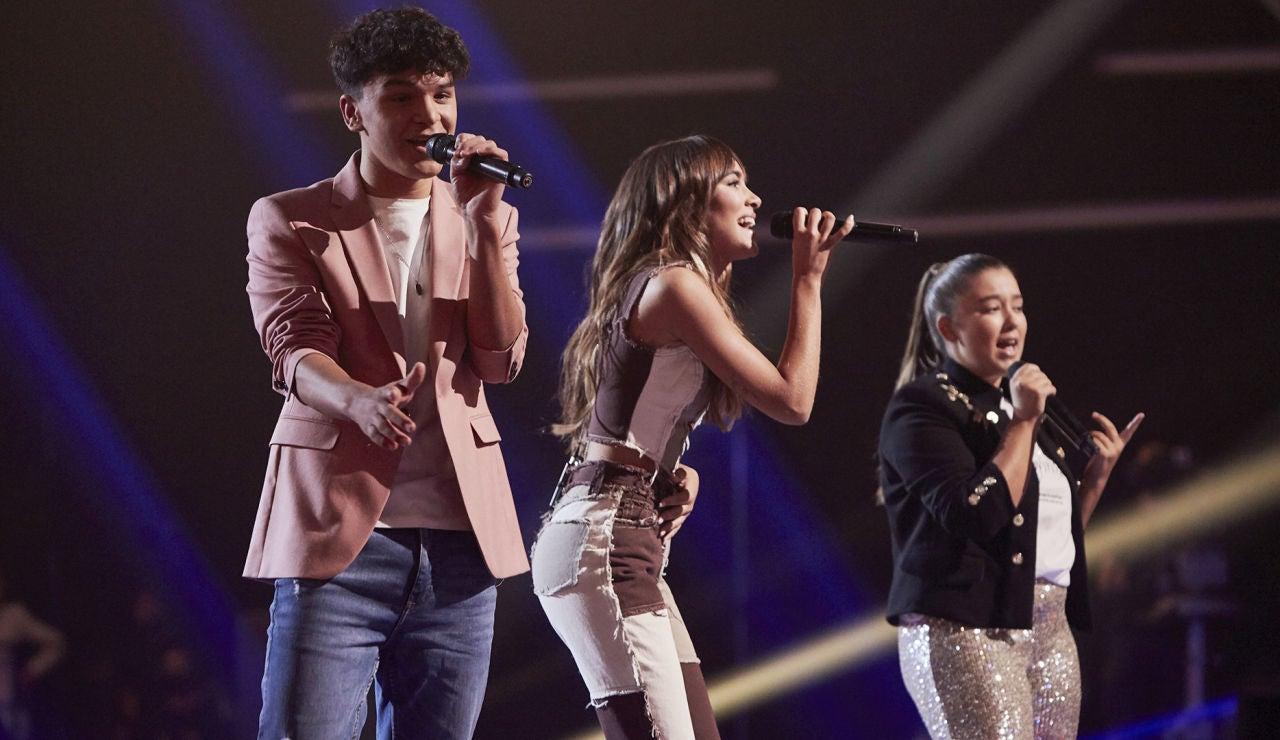 Aitana canta 'Más de lo que aposté' con Manuel Ayra y Rocío Avilés en la Final de 'La Voz Kids'