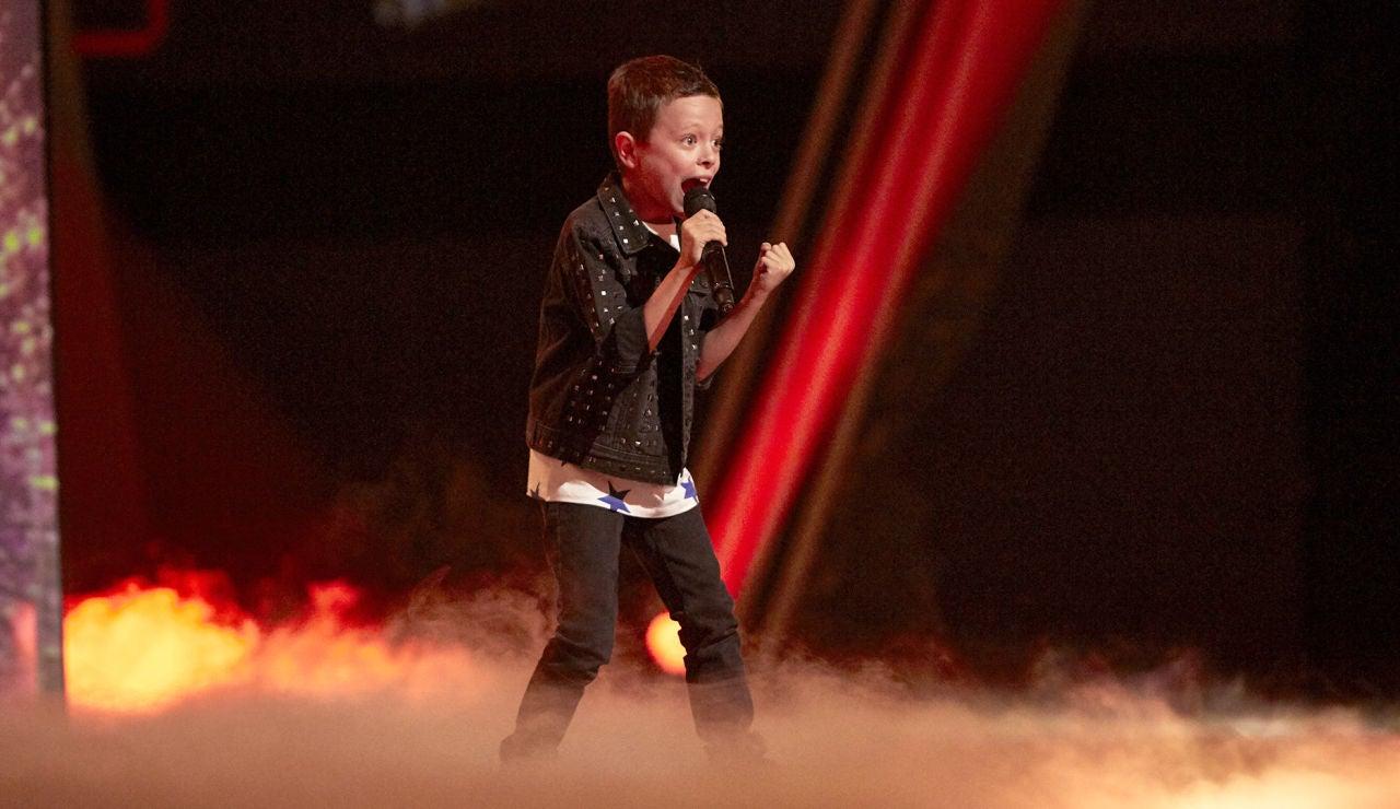 Jesús del Río canta 'The final countdown' en la Final de 'La Voz Kids'