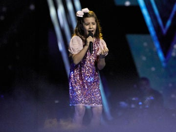 Nazaret Moreno canta '90 minutos' en la Final de 'La Voz Kids'