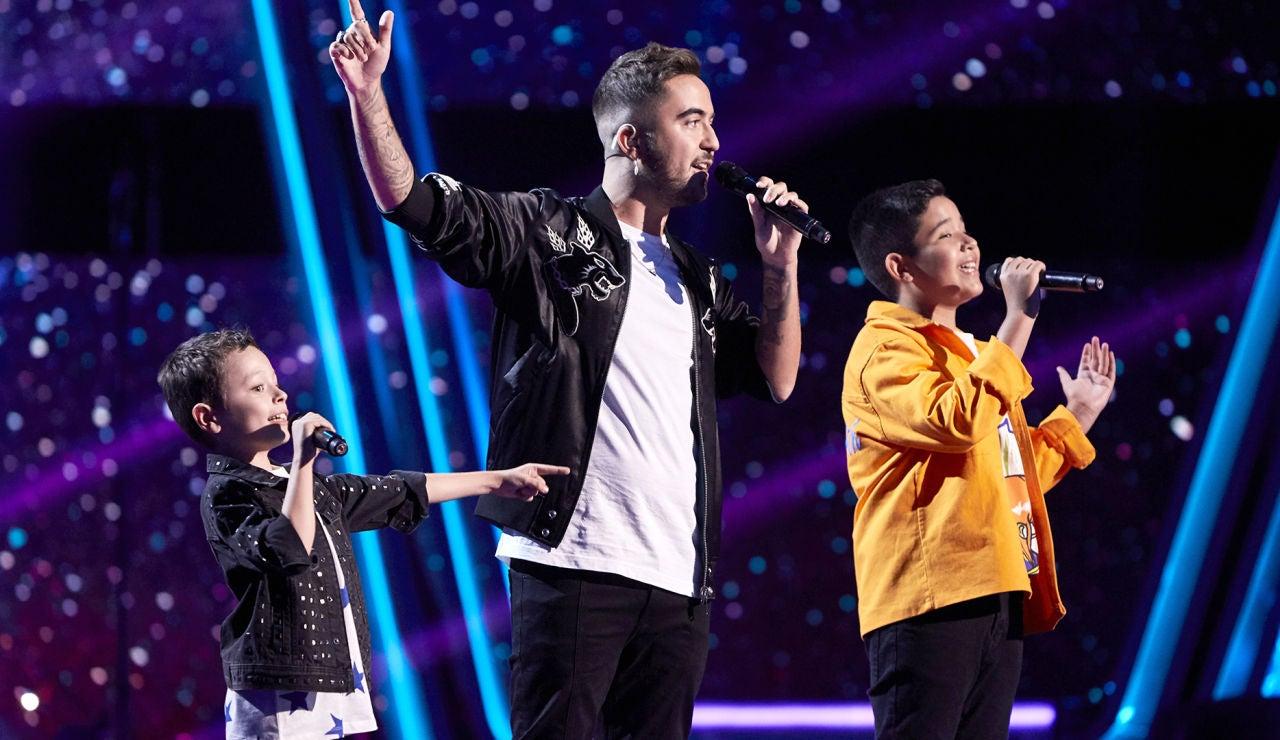 Beret canta 'Ojalá' con Jesús del Río y Levi Díaz en la Final de 'La Voz Kids'