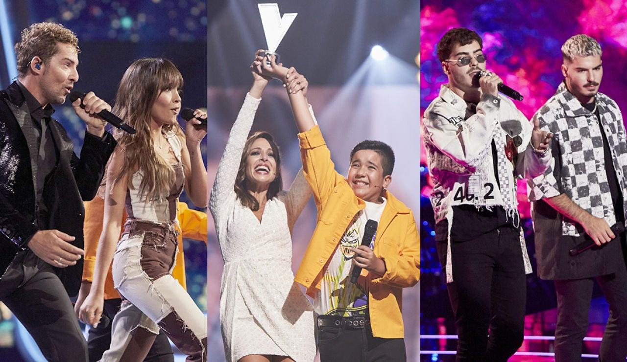 Levi Díaz gana 'La Voz Kids' en una Final con actuaciones de Aitana, Beret, Blas Cantó, Rozalén y Gemeliers, entre otros invitados